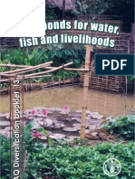 FAO-Farm Ponds for Water Fish and Aquaculture