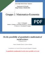 Presentazion Gruppo Matematica-Economia