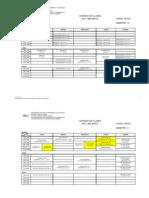 UNEXPO-VRP Horarios Ing. Mecánica Lapso 2013-2