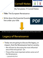 WebNotes - 2013 - Legacy of the Renaissance