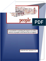 A consultation examining the impact of welfare reforms on people in the North East of England