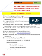 ORIENTAÇÕES GERAIS SOBRE O PROCESSO DE DESIGNAÇÃO PARA A REDE ESTADUAL DE ENSINO