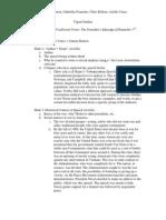 Neo -Aristotelian Presentation Outline