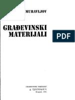 74631711 Gradjevinski Materijali Mihailo Muravljov 1995 Beograd