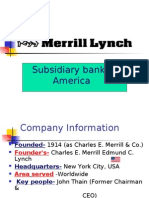 Subsidiary Bank of America