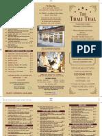 The Thali Thal Menu