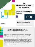 La Empresa y Su Entorno Clase 1