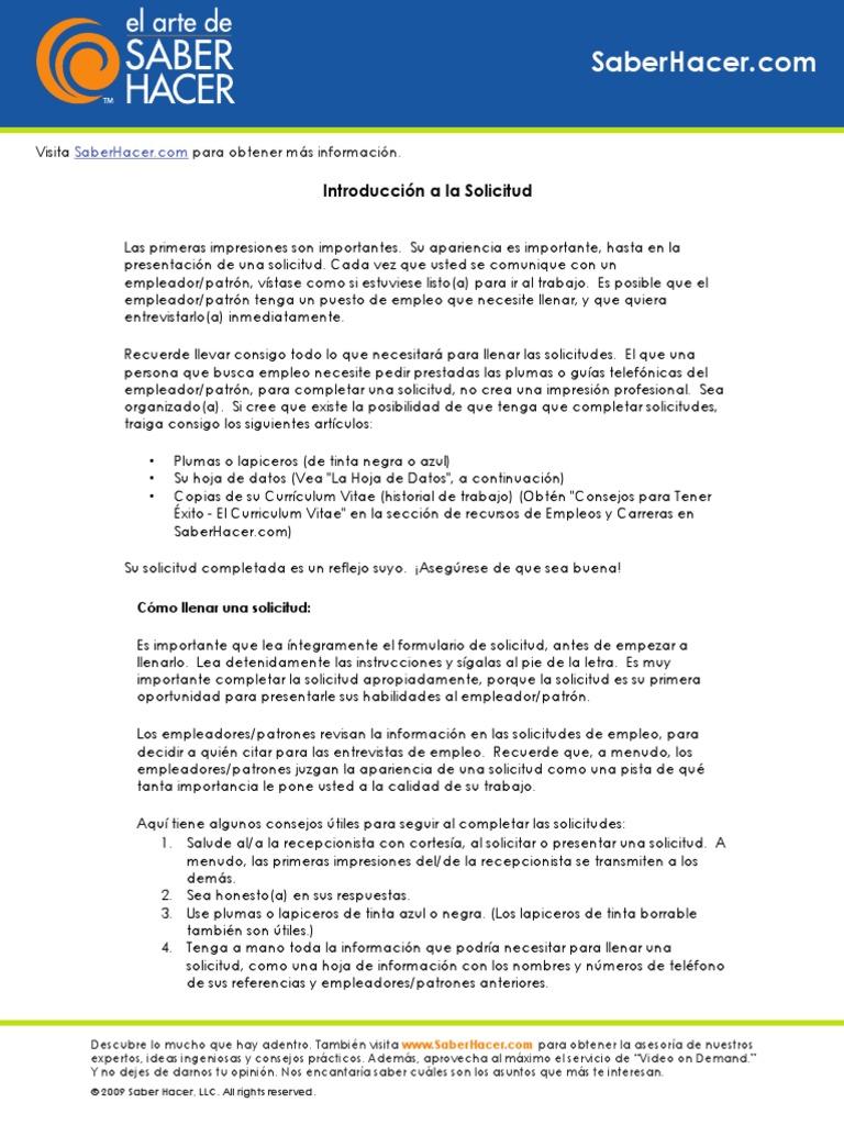Excelente Formularios De Currículum Regalo - Ejemplo De Colección De ...