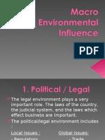 Entrepreneur - Macro Environmental Influence