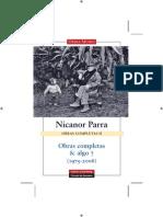 Nicanor Parra Obras Completas II