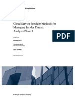 Cloud Service Provider Methods for Managing Insider Threats