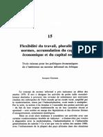 CHARMES Jacques - Flexibilité du travail, pluralité des normes, accumulation du K éco et du K social