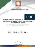 Manual Para El Control de Asistencia FEDERAL2013