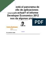 Cómo está el panorama de desarrollo de aplicaciones móviles actual