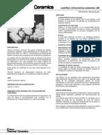 Ladrillos Refractarios IFB JM 1-11-10S