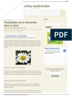Propiedades de La Manzanilla Para La Salud Hierbas Medicin