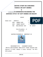 A COMPARITIVE STUDY ON CONSUMER PREFERENCE AND HAZARDS OF SOFT DRINKS