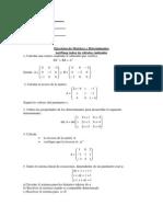 Ejercicios de Matrices-Determinante