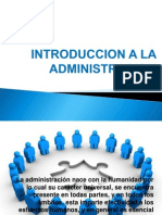 Introduccion a La Administracion