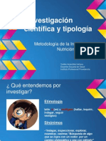 Investigación científica y tipología 2 clase
