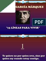 13 Consejos Garcia Marquez