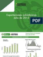 exportaciones julio 2013