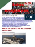 Noticias Uruguayas Jueves 14 de Noviembre Del 2013