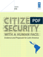United Nations Development Program's Regional Human Development Report 2013 - 2014, Citizen Security
