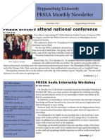 Shippensburg University PRSSA November Newsletter