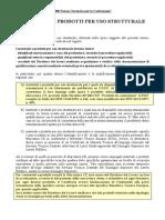 Accettazione dei materiali secondo NTC2008 Cap 11