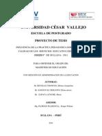 Informe Practica Docente y Caseba Sullana