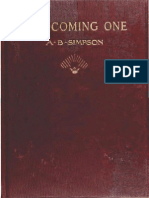 The Coming One by Albert B. Simpson 1912