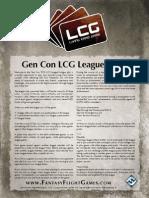 Gencon League Rules Lcg