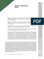 Modelos Organizacionais e Reforma Da Adm Publica