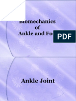 Bio Mechanics of Ankle and Foot