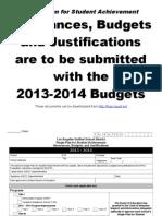 2013-2014 assurances  justifications
