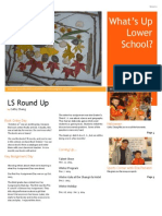 What's Up Lower School?  Nov. Edition