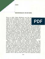 Mishima's Suicide Article