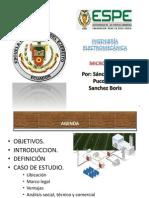 Exposicion de Microredes - Boris Sanchez - Carlos Sanchez - Jorge Puco