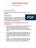 Consumer Behavior Basics