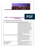 Assessment and Skills Criteria