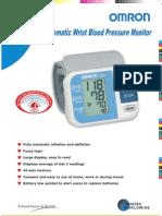 REM -1 Automatic Wrist Blood Pressure Monitor M ODEL