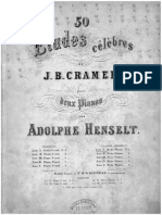 Cramer - Etudes (With 2nd Piano by a. Henselt)