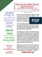 hfc november 17 2013 bulletin