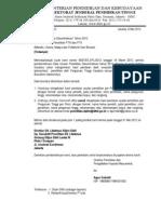 Surat Hasil Seleksi Desentralisasi Tahun 2012