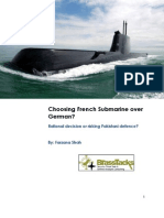 Choosing French Submarine Over German- Rational Decision or Risking Pakistani Defense