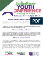Julia Farr Conference Program and Registration Form