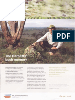 The Barnett's bush memory - Bush Heritage News