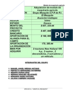 Proyecto Maquinaria Agrícola FIRA