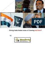 Giving India Trade Route or Crossing Red Lines